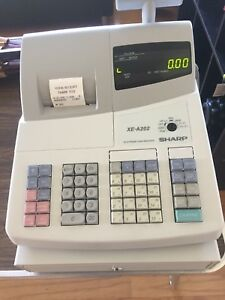 Open Box Sharp Xe a202 Electronic Cash Register Free Ship Tested
