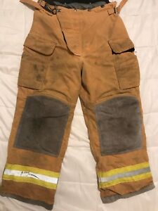 Lion Body Guard Firefighter Turnout Gear Bunker Turnout Pants W Liner 34 X 30