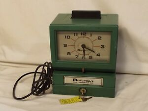Acroprint Time Recorder Model 125nr4 Time Clock With 2 Keys For Parts Or Repair
