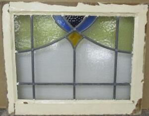 Mid Sized Old English Leaded Stained Glass Window Gorgeous Sweep 24 X 19 25