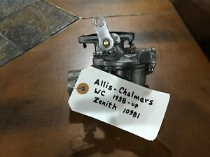 Allis Chalmers Wc Zenith Carburetor