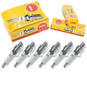 6 Pcs Ngk Standard Spark Plugs For 1950 1954 Ford Country Squire 3 7l 3 6l Pl