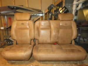 03 Ford F 150 King Ranch Leather Rear Seats Read 60 40