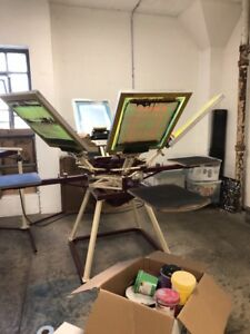 Screen Printing Press 6 Color