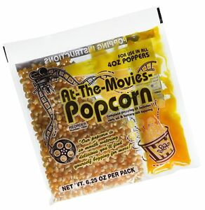 At the movies Popcorn Coconut Oil Portion Packs case Of 24 4oz Kettle