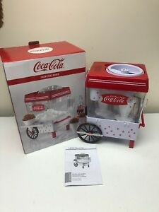 New Nostalgia Coca cola Snow Cone Maker Shaver Ice Electric Frozen Drink Machine
