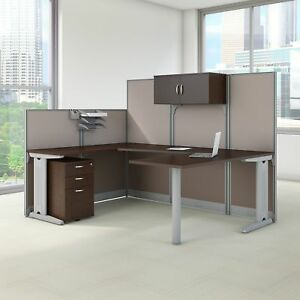 Bush Business Furniture Office In An Hour 89w X 65d U Shaped Cubicle Workstation