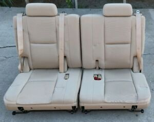 2007 2014 Tahoe yukon suburban 3rd Row Cloth Seat Tan Cloth Color Third Row