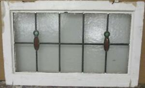 Old English Leaded Stained Glass Window Transom Pretty Simple Drops 29 X 18 25