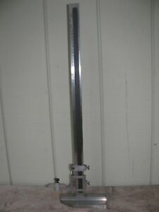 Starrett Vernier Height Gage No 454 E m 24 Inch With Scribe Inches Mm Metric