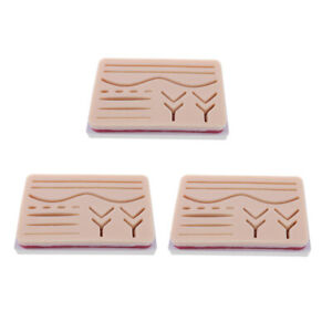 3pcs Suture Practice Human Traumatic Skin Suturing Practice Training Aids