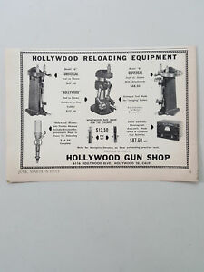 1950 Hollywood Gun Shop Reloading Equipment Ammunition Vtg Magazine Print Ad