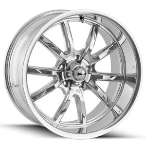 18 Inch Ridler 650 18x8 5x4 75 0mm Chrome Wheel Rim