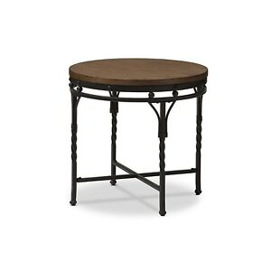 Urban Designs Austin Vintage Industrial Antique Bronze Round End Table