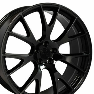 20 Rims Fit Dodge Charger Challenger Hellcat Black Chrome