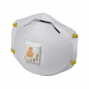 3m 8511 Particulate N95 Respirator Dust Filter Valve Case 80 Masks Free Shipping