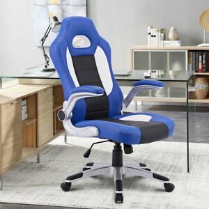 Home Office Executive Pu Leather Racing Style Bucket Seat Chair Desk Chair Us