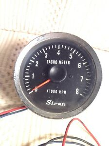 Vintage Tacho Meter Siran Tachometer Boat Bike Custom Hot Rod Untested