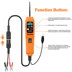 12v Led Car Battery Load Tester Diagnostic Scanner Analyze Power Fee Shipping