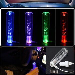 Universal 15cm Crystal Bubble Led Light Shift Knob Universal Shifter Shift Gear