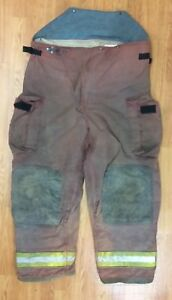 Firefighter Red Bunker Turnout Pants 48 X 32 Globe