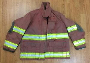 Firefighter Red Bunker Turnout Jacket 42 X 29 Globe