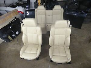 Bmw E64 650i Convertible Seat Set Heated Sport Seats Leather Beige Oem 2008 2010