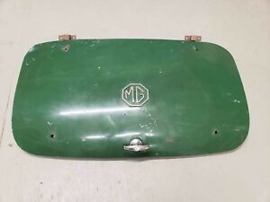Mg Midget Boot Lid Trunk Lid Green With Handle Emblem And Hinges Oem