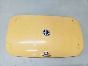 Mg Midget Boot Lid Trunk Lid Yellow With Handle And Emblem Oem