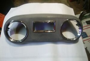 Vintage Aluminum Dash Panel Speedometer Gauges Rat Rod Truck