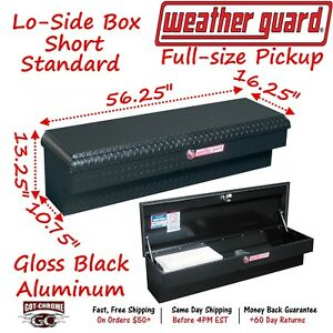 174 5 01 Weather Guard Black Aluminum Lo Side Mount Box 56 Truck Toolbox