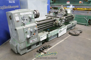 24 X 74 Used Mazak Gap Bed Heavy Duty Engine Lathe Mark Ii A4686