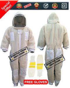 Ventilated Beekeeping Suit 3 Layer Mesh Fencing Veil gloves Free