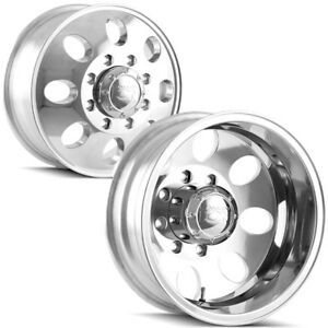 Set Of 4 Ion 167 Dually 16 Inch 8x170 Polished Wheels Rims