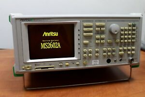Anritsu Ms2602a Opt 01 05 100hz 8 5ghz Rf Spectrum Analyzer Fully Tested