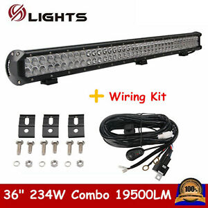 36inch 234w Led Work Light Bar Combo Offroad Ford Car Boat Truck Suv Wires 34 38