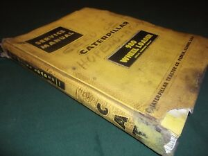 Cat Caterpillar 980 Wheel Loader Service Shop Repair Manual Book S n 42h1 up