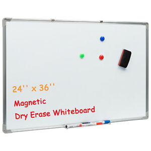 Large Dry Erase Board Magnetic Whiteboard Set Presentation Office Home 36 24