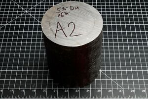 A2 Tool Steel Remnant Cutoff Drop Round Stock Cylinder Rod Machinist Tool Maker