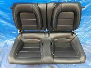 Black Leather Rear Passenger Seat Coupe Ford Mustang Gt 5 0l 16 17 2016 2017