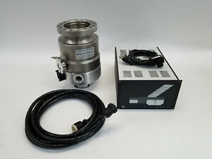 Leybold Turbovac 361 Vacuum Pump With Leybold Nt20 Controller Cable Works