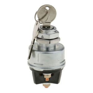 Universal 3 Position Ignition Starter Key Switch With Momentary Start