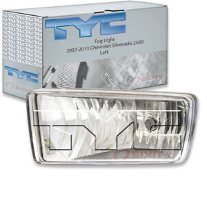 Tyc Left Fog Light Assembly For 2007 2013 Chevrolet Silverado 2500 Rr