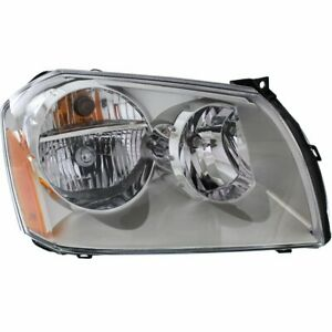 Headlight For 2005 2007 Dodge Magnum Right Halogen Chrome Interior With Bulb
