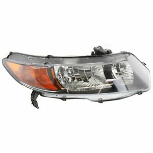 Headlight For 2006 2007 Honda Civic Right Halogen Clear Lens With Bulb