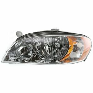 Headlight For 2002 2004 Kia Spectra Sedan Left Halogen Clear Lens With Bulb