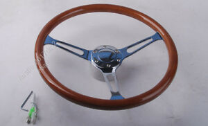 Peach Wood Steering Wheel 380mm For Antique Vintage Vehicle