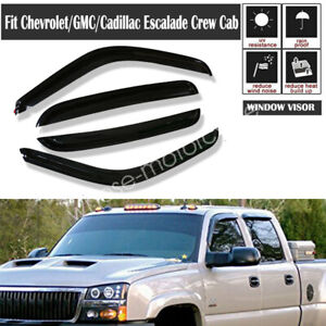 For Chevy Avalanche 2002 2003 2004 2005 2006 Vent Rain Guard Shade Window Visors