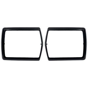 1968 1969 1970 Ford Mustang Black Seat Belt Buckle Bezels Pair 68 15865 New