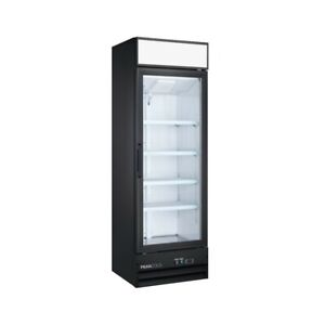 Single Glass Door Upright Display Cooler Merchandiser Refrigerator 14 Cu Ft